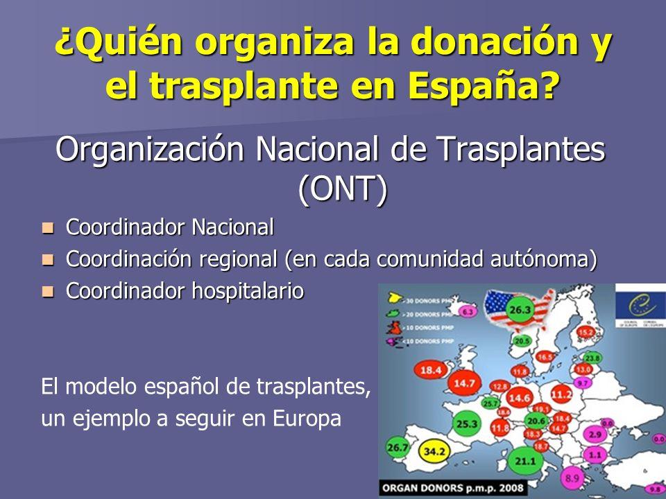 ¿Quién organiza la donación y el trasplante en España.