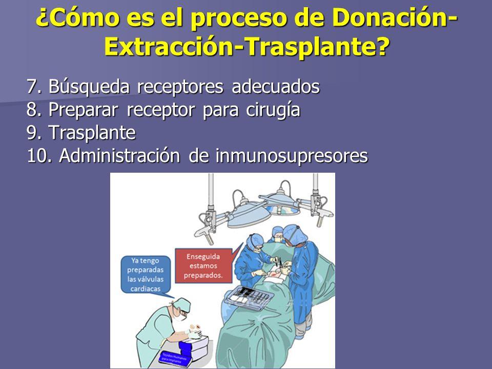 ¿Cómo es el proceso de Donación- Extracción-Trasplante.