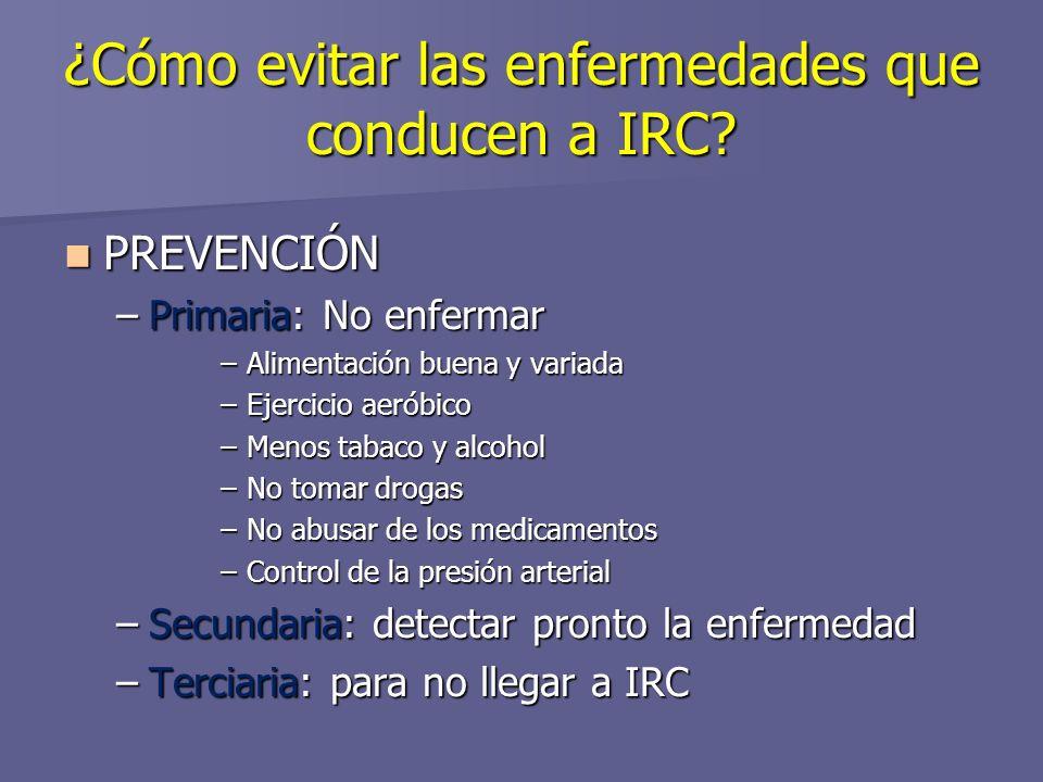 ¿Cómo evitar las enfermedades que conducen a IRC.
