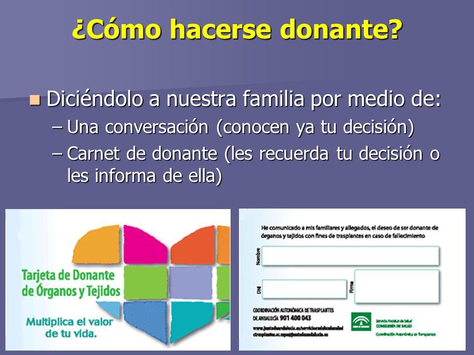 ¿Cómo hacerse donante.