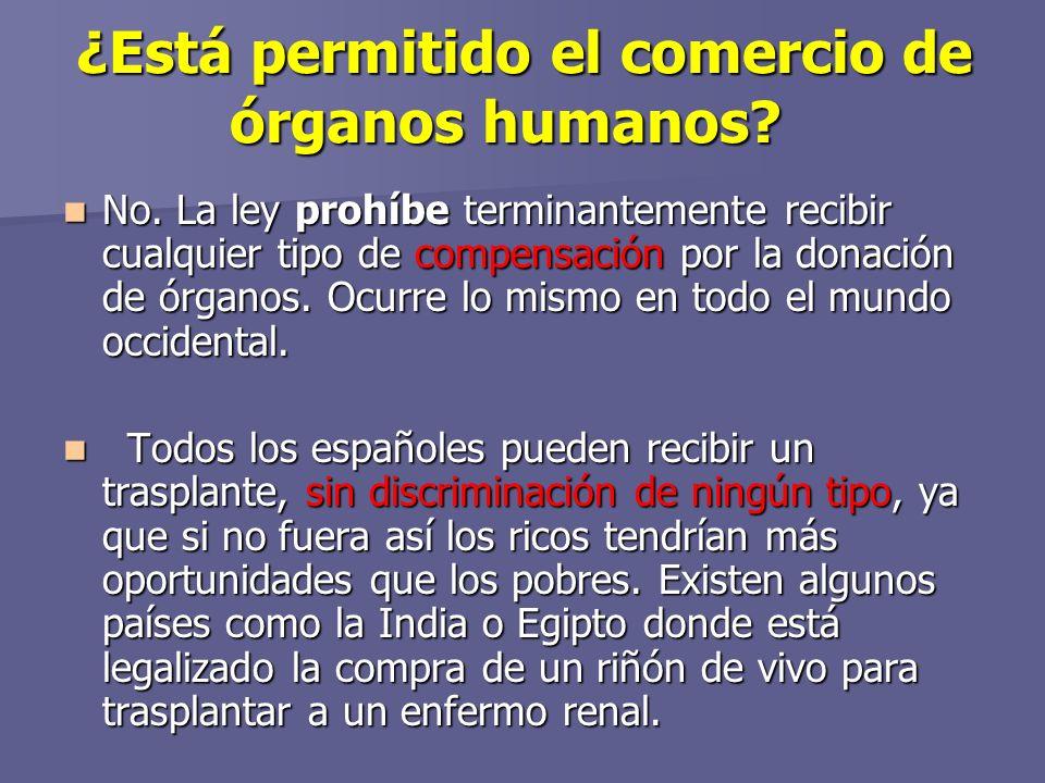 ¿Está permitido el comercio de órganos humanos.¿Está permitido el comercio de órganos humanos.