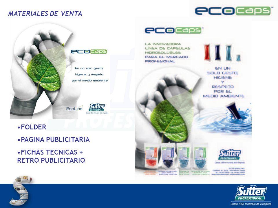 MATERIALES DE VENTA FOLDER PAGINA PUBLICITARIA FICHAS TECNICAS + RETRO PUBLICITARIO