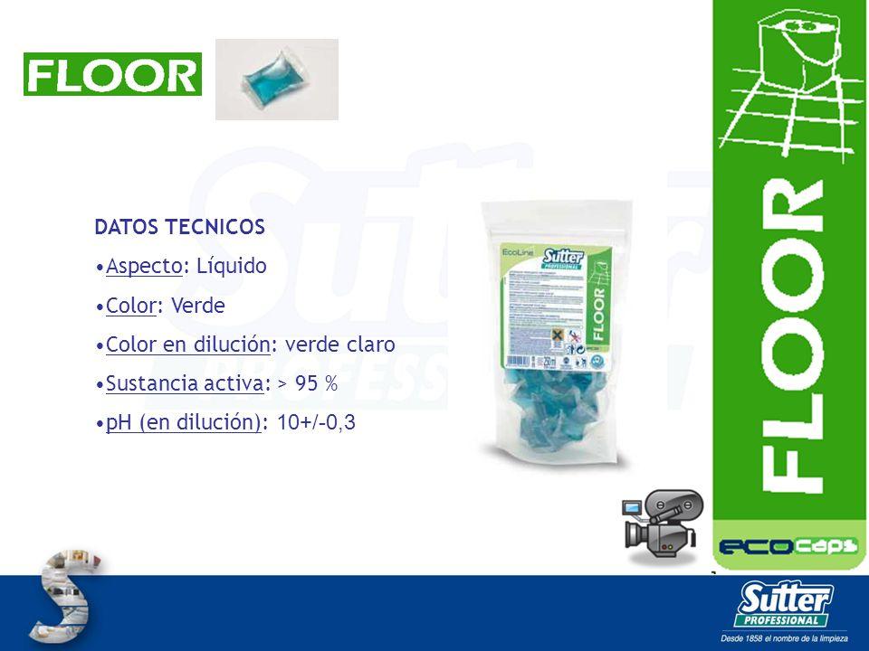 FLOOR MATIC CAPS Detergente perfumado para pavimentos, específico para máquinas fregadoras.