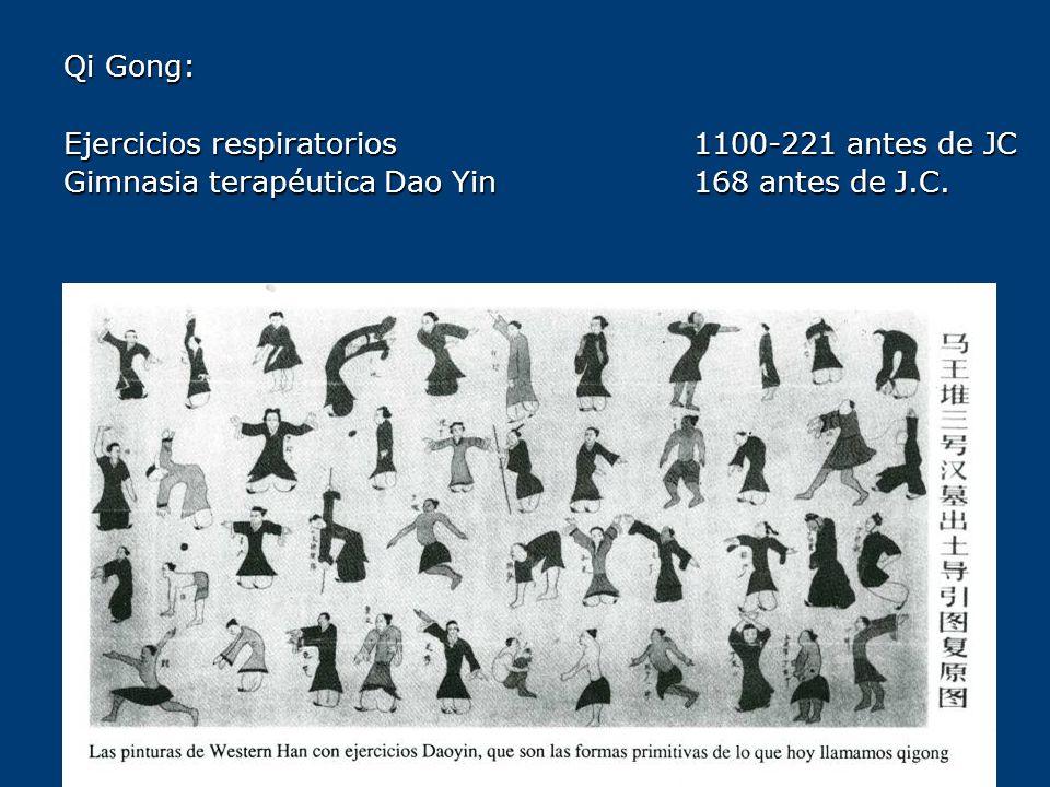 Qi Gong: Ejercicios respiratorios 1100-221 antes de JC Gimnasia terapéutica Dao Yin 168 antes de J.C.