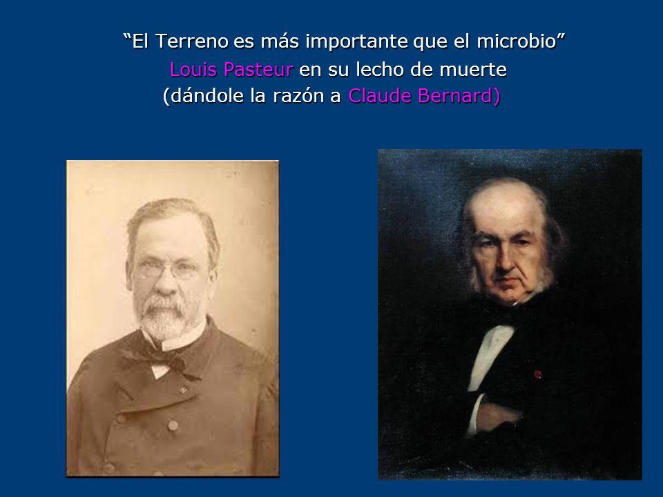 El Terreno es más importante que el microbio Louis Pasteur en su lecho de muerte Louis Pasteur en su lecho de muerte (dándole la razón a Claude Bernar