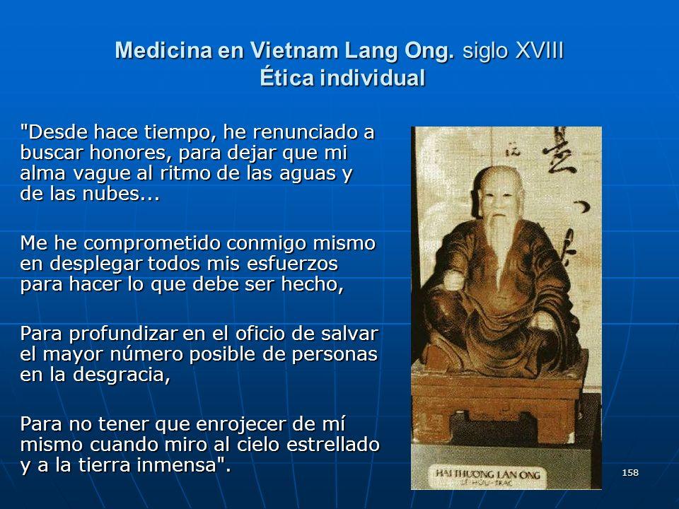 158 Medicina en Vietnam Lang Ong. siglo XVIII Ética individual