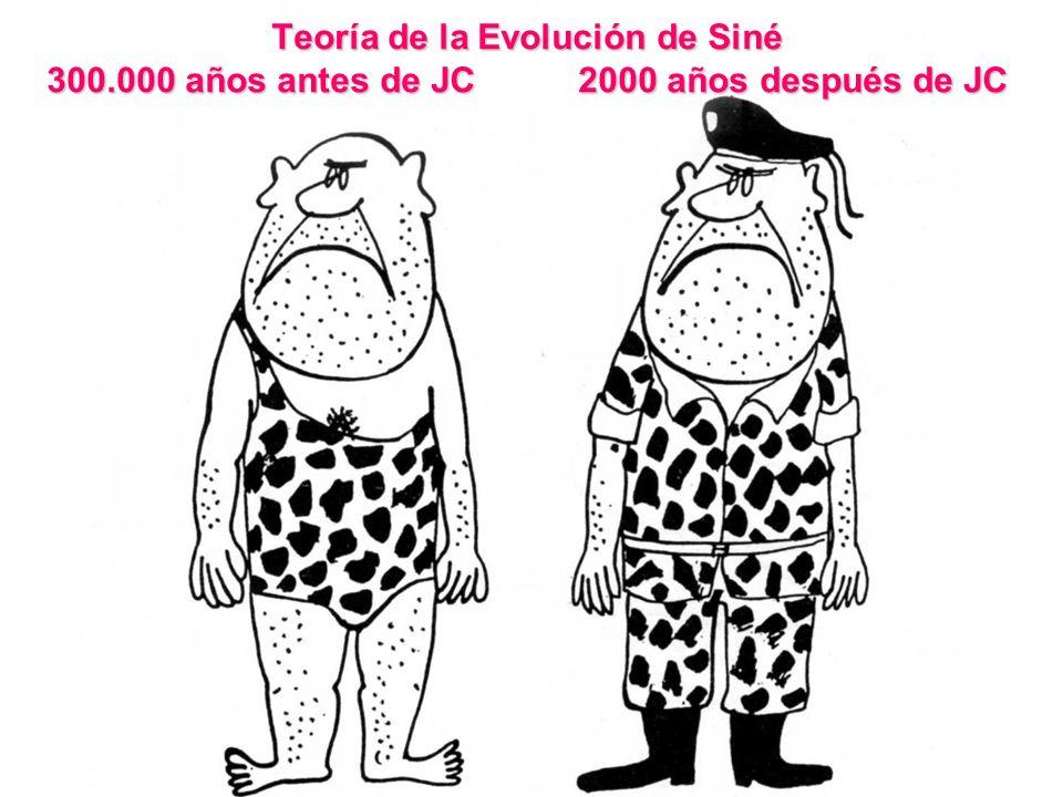 Teoría de la Evolución de Siné 300.000 años antes de JC 2000 años después de JC