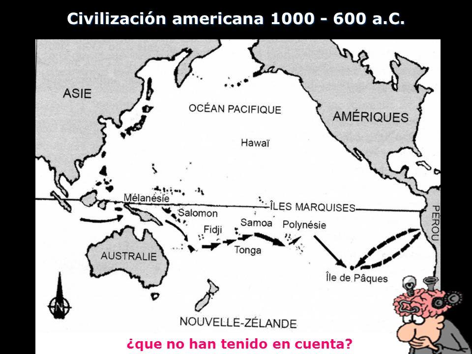 Civilización americana 1000 - 600 a.C. ¿que no han tenido en cuenta?