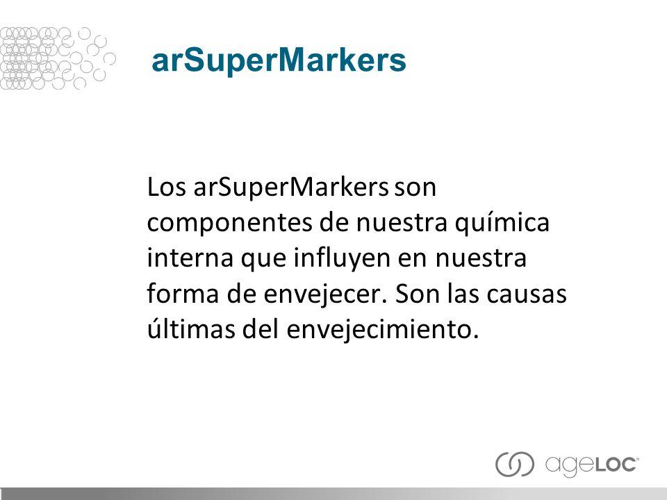 Los arSuperMarkers son componentes de nuestra química interna que influyen en nuestra forma de envejecer. Son las causas últimas del envejecimiento. a