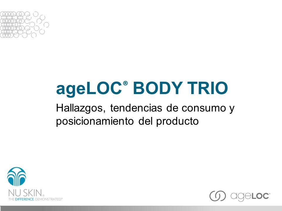 ageLOC ® BODY TRIO Hallazgos, tendencias de consumo y posicionamiento del producto