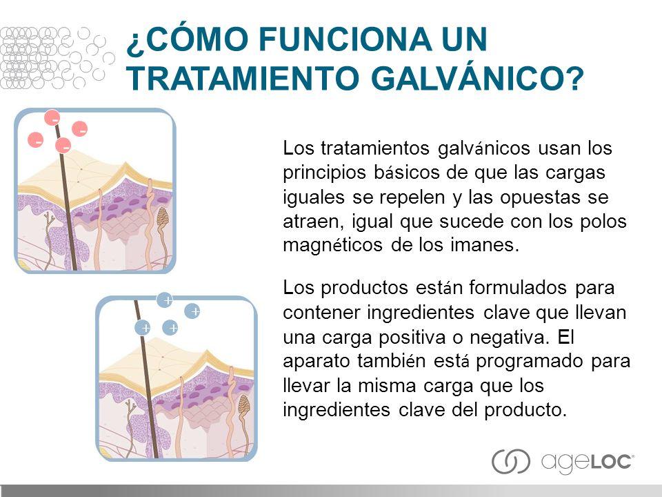 Los tratamientos galv á nicos usan los principios b á sicos de que las cargas iguales se repelen y las opuestas se atraen, igual que sucede con los po