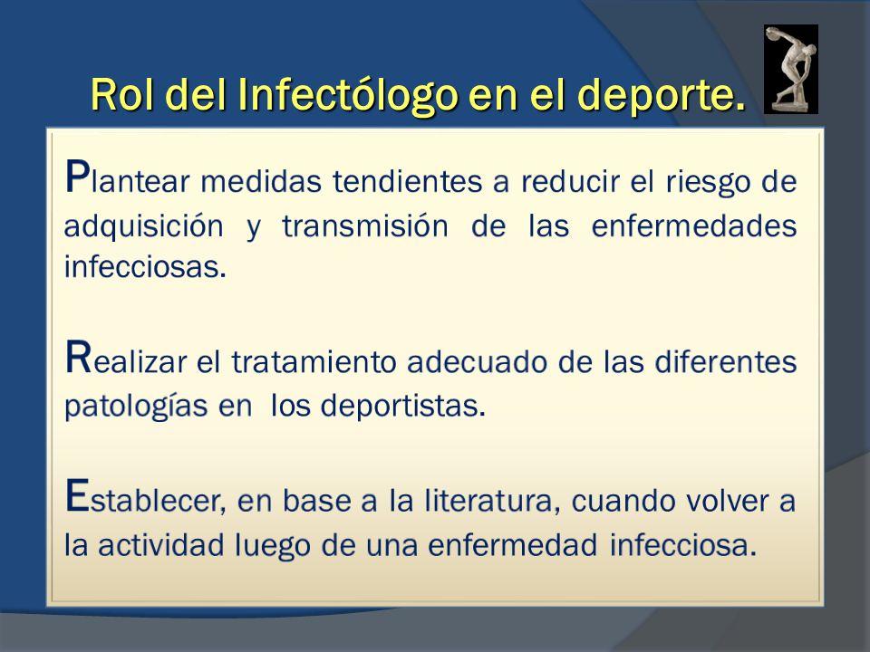 Rol del Infectólogo en el deporte.