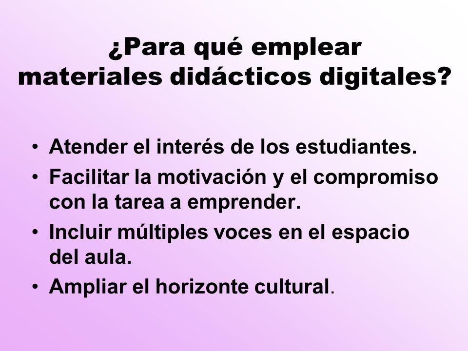 ¿Para qué emplear materiales didácticos digitales.