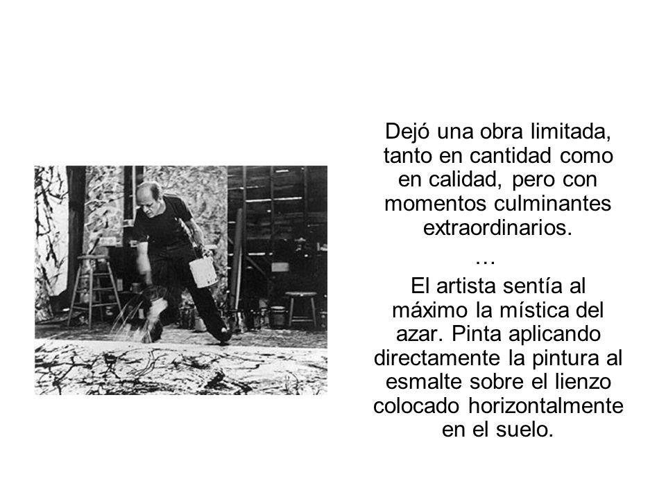 JASON POLLOCK Jason Pollock (Jack the Dripper, como era conocido a causa de la técnica que inventó: el drip) es el artista plástico norteamericano más