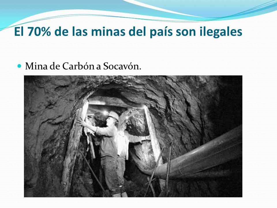 El 70% de las minas del país son ilegales Mina de Carbón a Socavón.