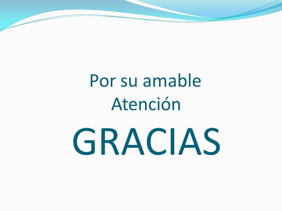 Por su amable Atención GRACIAS