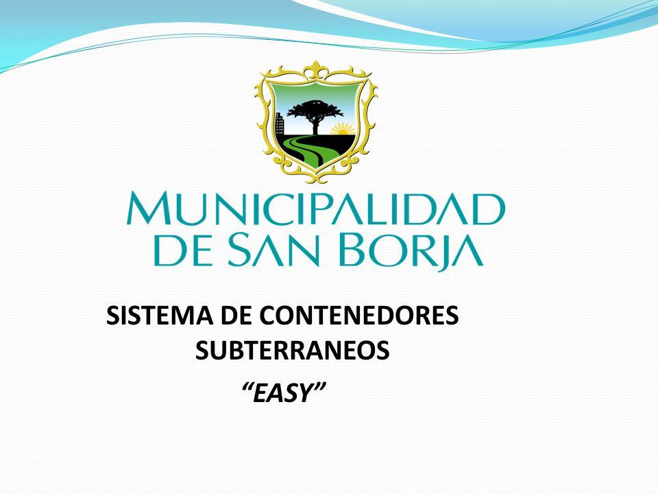 SISTEMA DE CONTENEDORES SUBTERRANEOS EASY