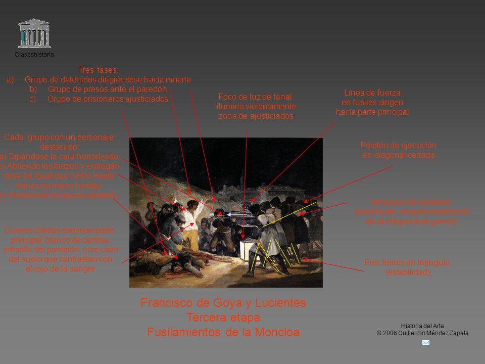 Claseshistoria Historia del Arte © 2006 Guillermo Méndez Zapata Francisco de Goya y Lucientes Tercera etapa Fusilamientos de la Moncloa Verdugos de es