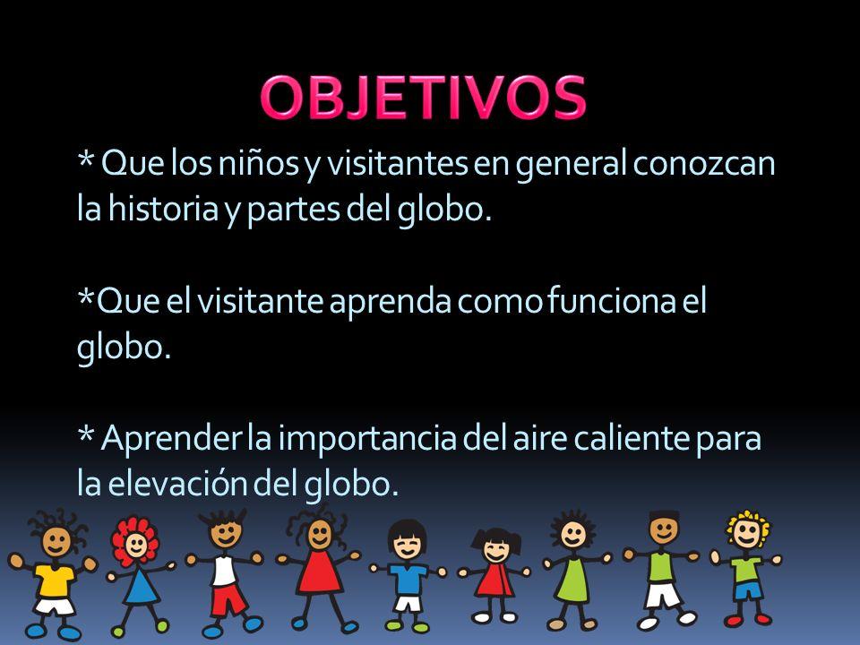 * Que los niños y visitantes en general conozcan la historia y partes del globo.