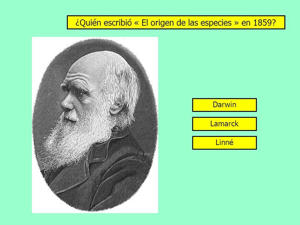 ¿Quién escribió « El origen de las especies » en 1859? Darwin Lamarck Linné