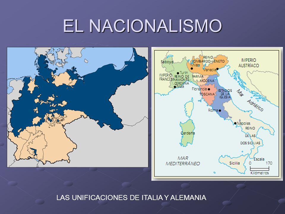 EL NACIONALISMO LAS UNIFICACIONES DE ITALIA Y ALEMANIA