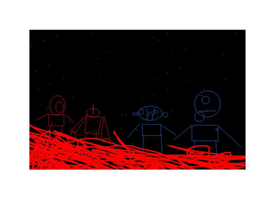 Había una vez un meteorito que cayó en Marte, en su caída se quemó todo.