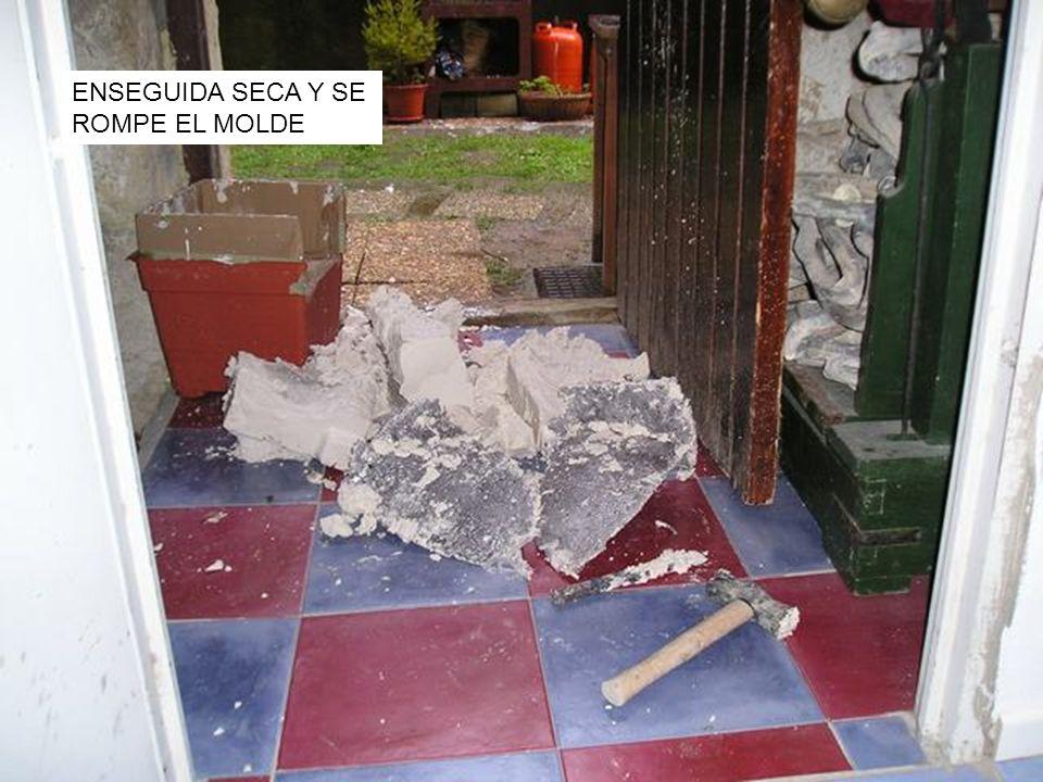 ENSEGUIDA SECA Y SE ROMPE EL MOLDE
