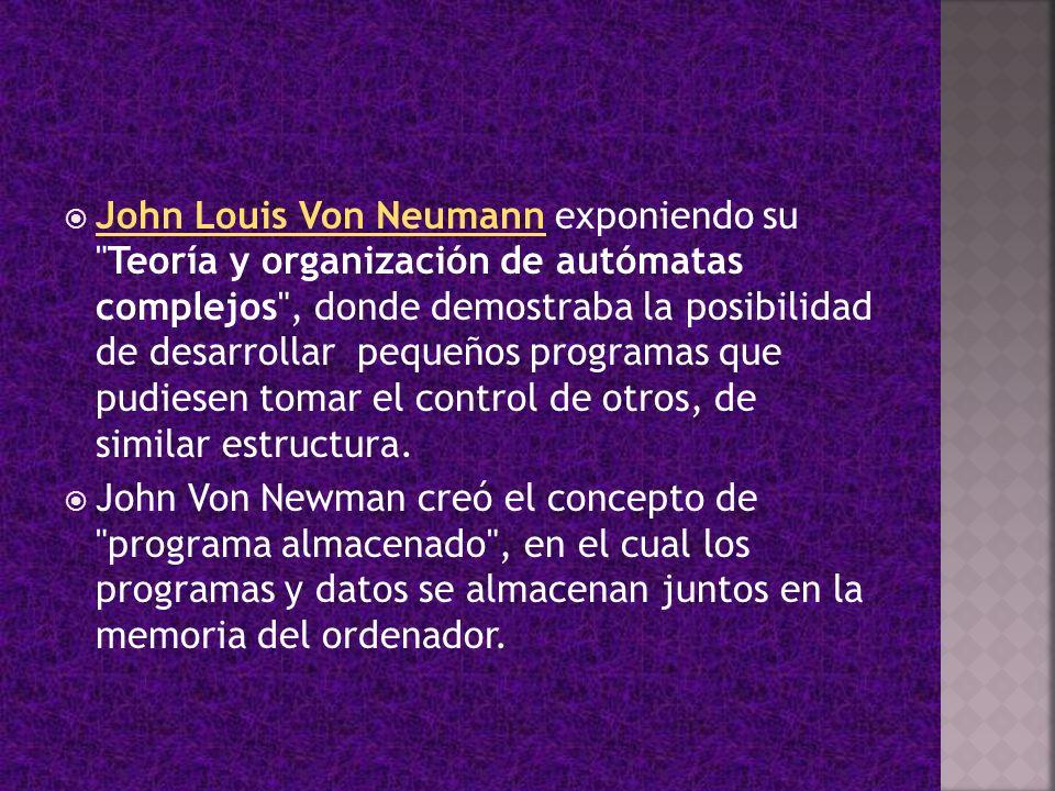 John Louis Von Neumann exponiendo su