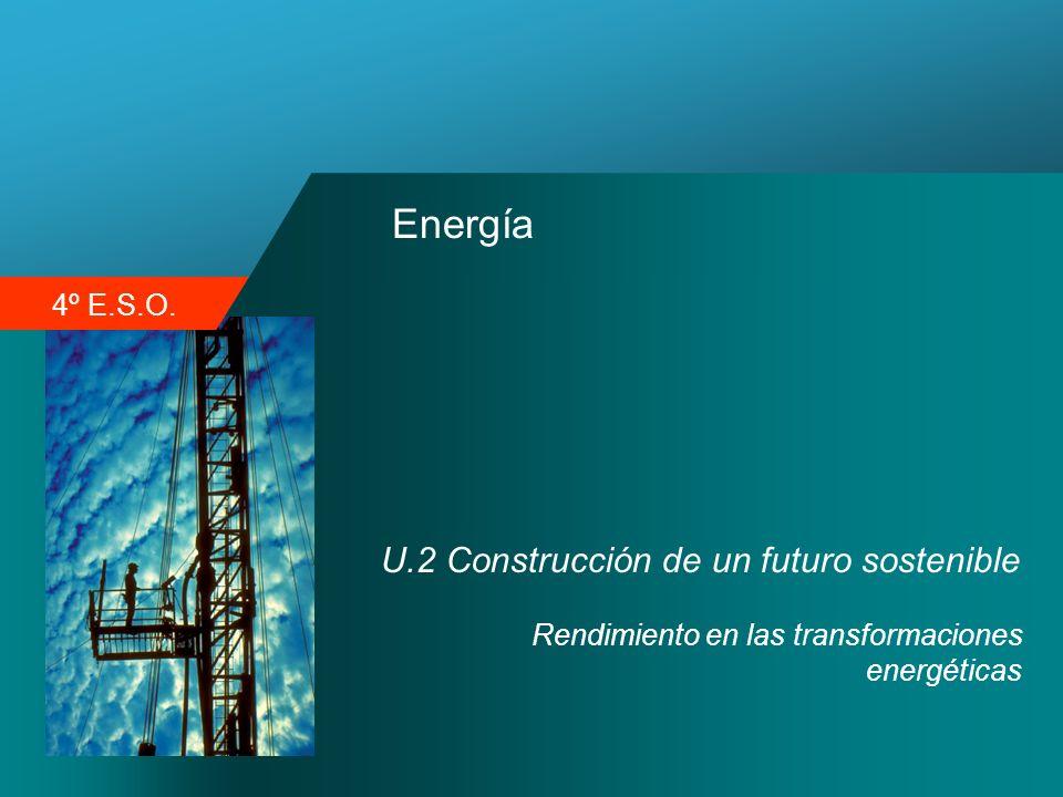 4º E.S.O. Energía U.2 Construcción de un futuro sostenible Rendimiento en las transformaciones energéticas