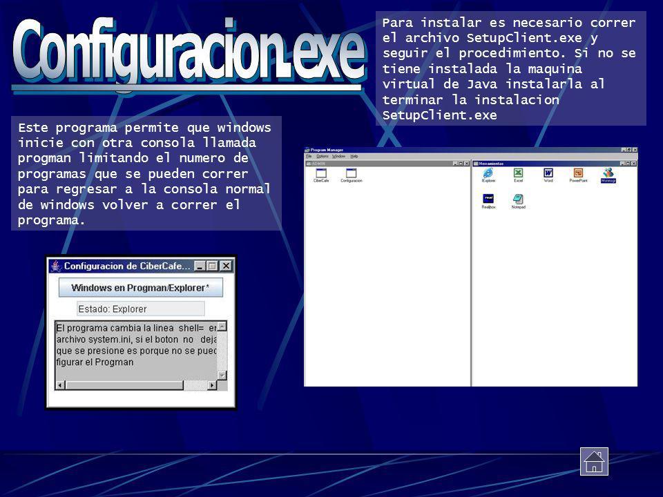 Para instalar es necesario correr el archivo SetupClient.exe y seguir el procedimiento. Si no se tiene instalada la maquina virtual de Java instalarla