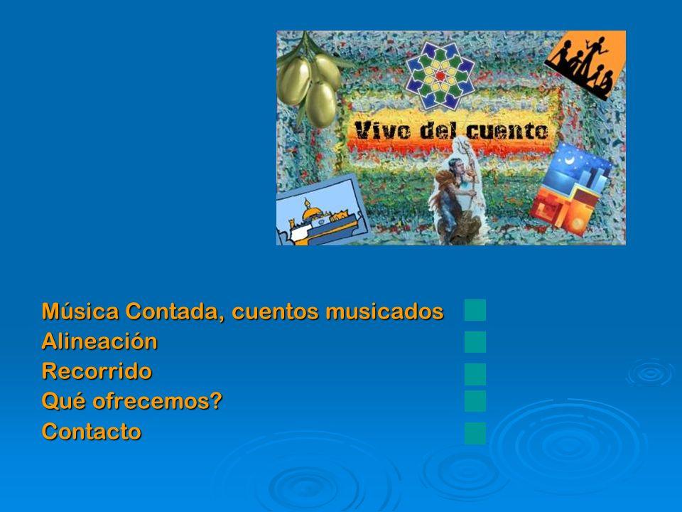 Música Contada, cuentos musicados AlineaciónRecorrido Qué ofrecemos? Contacto