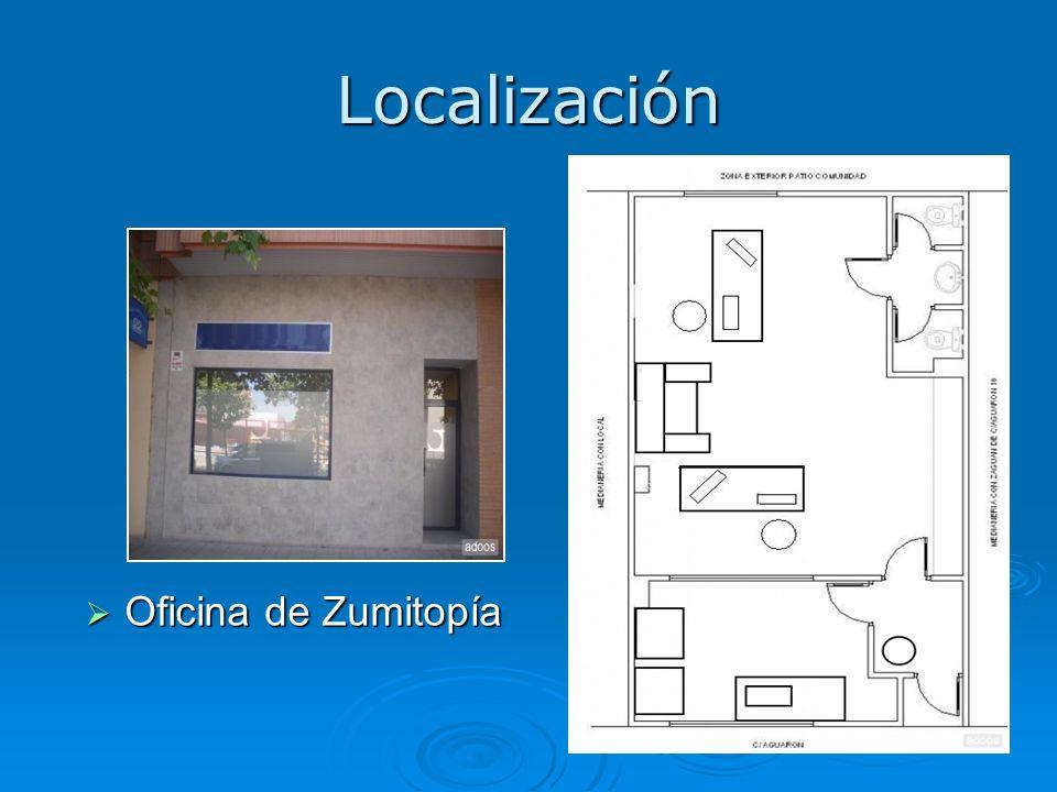 Localización Oficina de Zumitopía Oficina de Zumitopía