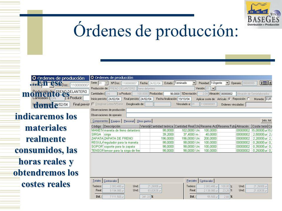 Las órdenes de producción pueden pasar por diferentes estados hasta su finalización...