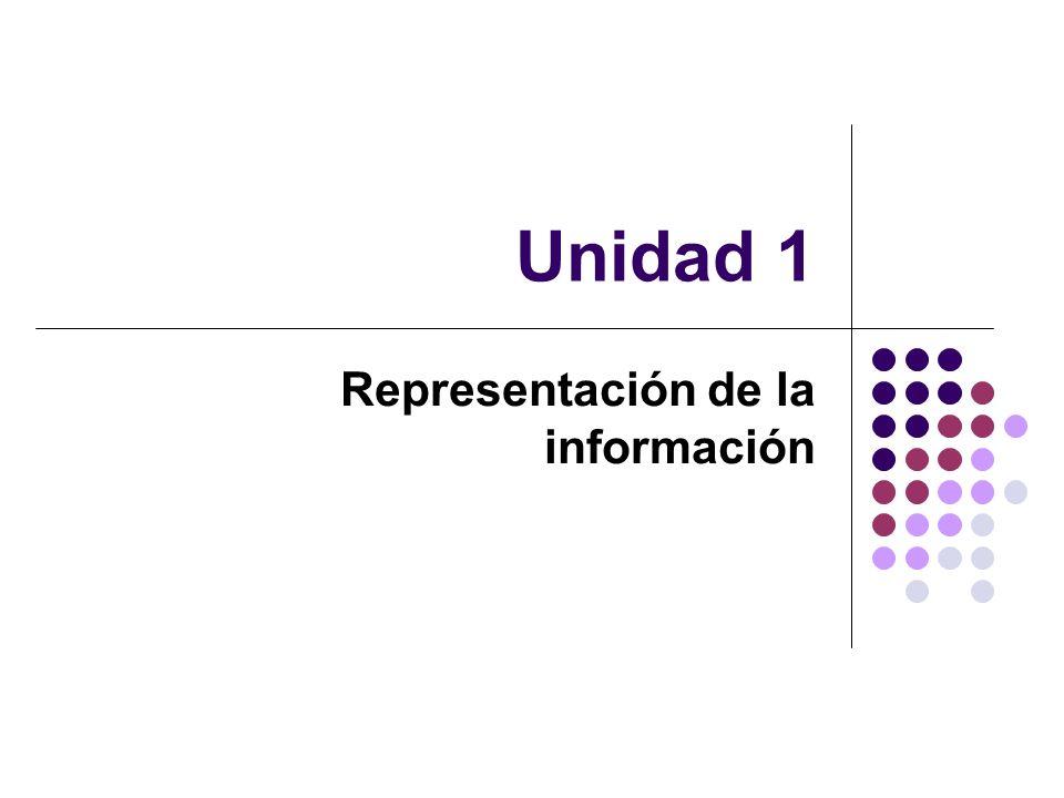 Unidad 1 Representación de la información