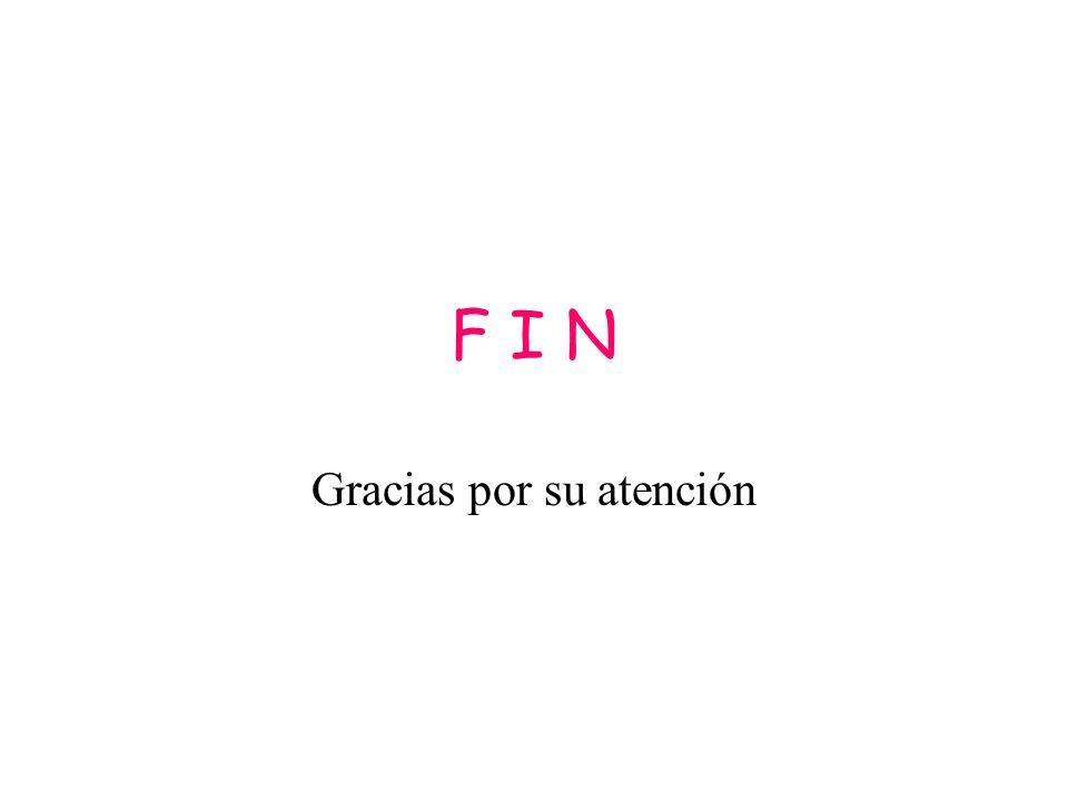 F I N Gracias por su atención