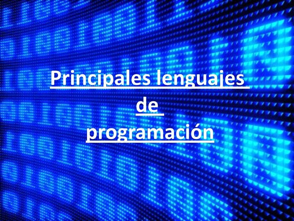 Principales lenguajes de programación