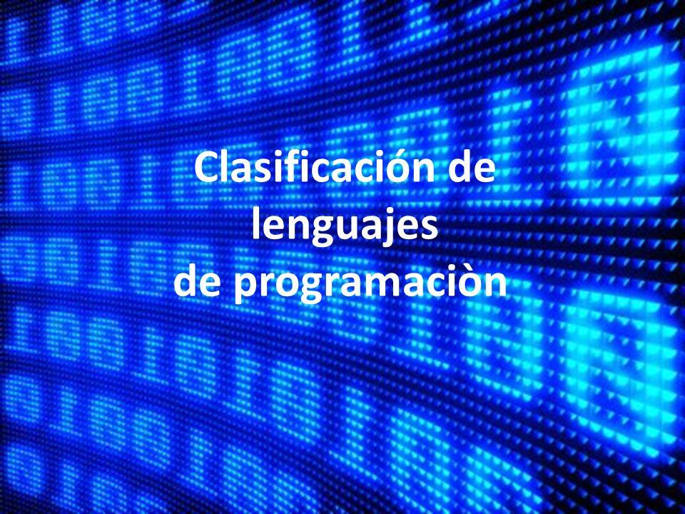 Clasificación de lenguajes de programaciòn
