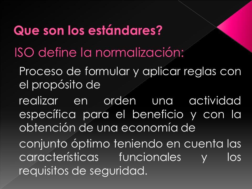 Proceso de formular y aplicar reglas con el propósito de realizar en orden una actividad específica para el beneficio y con la obtención de una econom