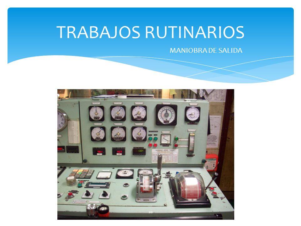 TRABAJOS RUTINARIOS MANIOBRA DE SALIDA 20