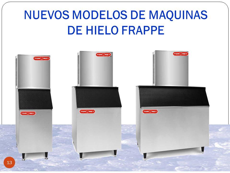 13 NUEVOS MODELOS DE MAQUINAS DE HIELO FRAPPE