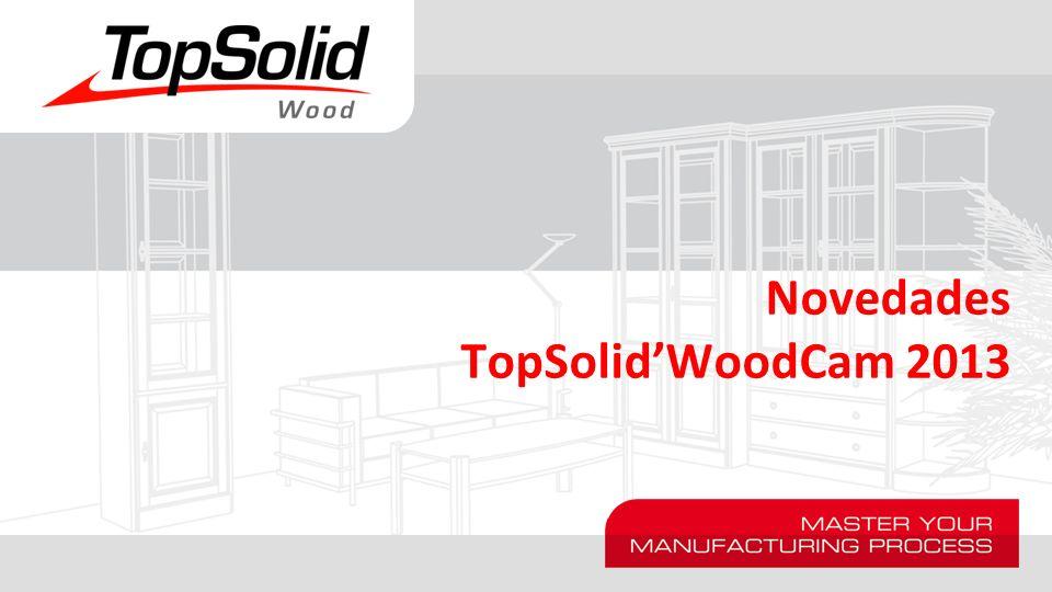 Nuevas máquinas plantilla Las máquinas estándar se han reemplazado por máquinas genéricas que ilustran las distintas posibilidades de TopSolid WoodCam.