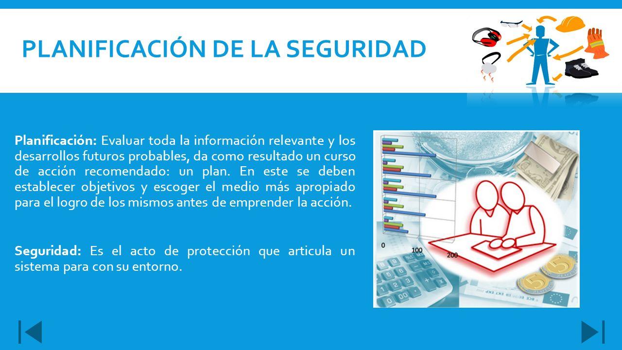 Planificación: Evaluar toda la información relevante y los desarrollos futuros probables, da como resultado un curso de acción recomendado: un plan. E