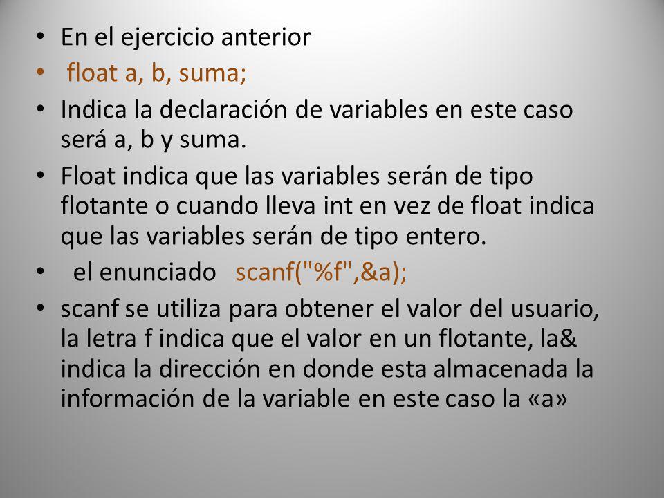 Crearemos un programa con ciclo if #include //calcula resistencia #include int main () { float corriente,voltaje,resistencia; printf( ingresa valor de la voltaje\n\t ); scanf( %f ,&voltaje); printf( ingresa valor del corriente\n\t ); scanf( %f ,&corriente); if (corriente==0) printf( la corriente debe ser distinta de cero ); else { resistencia=voltaje/corriente; printf( \nel voltaje es de %f ,resistencia); } getch(); }