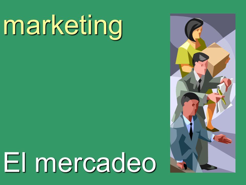 marketing El mercadeo