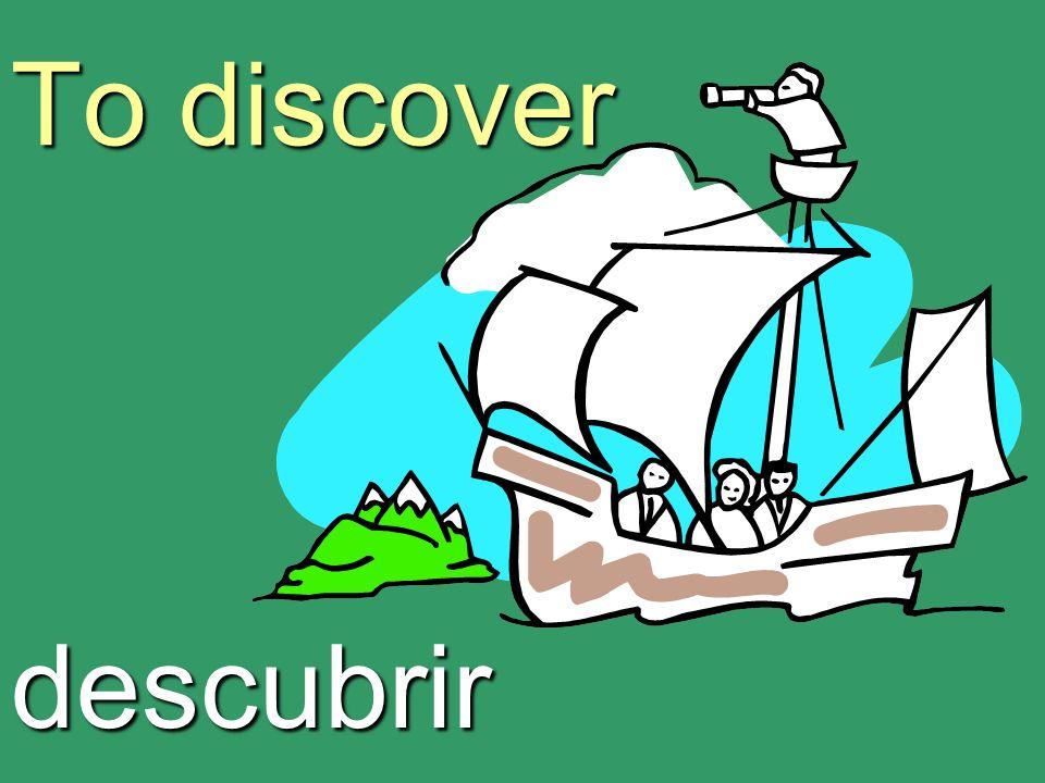 To discover descubrir