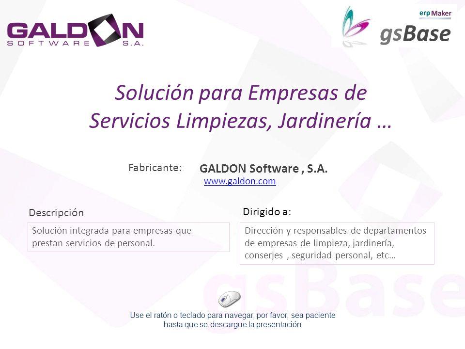 Descripción : Dirigido a: Solución integrada para empresas que prestan servicios de personal. Dirección y responsables de departamentos de empresas de