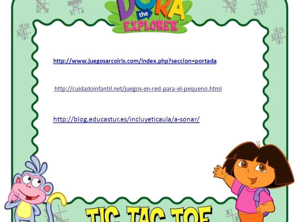 http://www.juegosarcoiris.com/index.php?seccion=portada http://cuidadoinfantil.net/juegos-en-red-para-el-pequeno.html http://blog.educastur.es/incluye