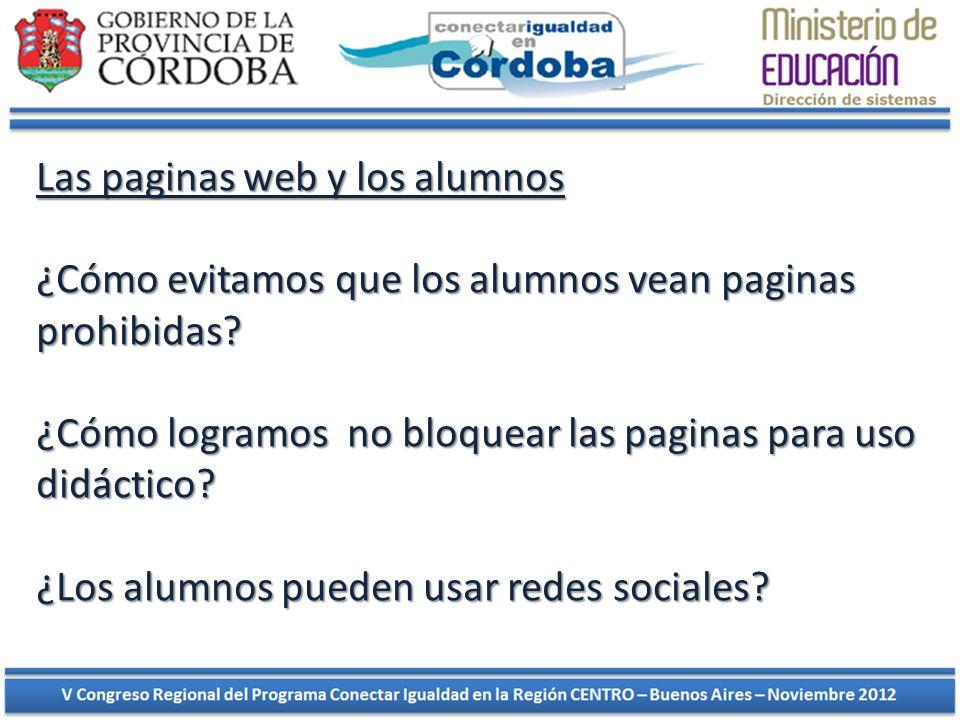 Las paginas web y los alumnos ¿Cómo evitamos que los alumnos vean paginas prohibidas? ¿Cómo logramos no bloquear las paginas para uso didáctico? ¿Los