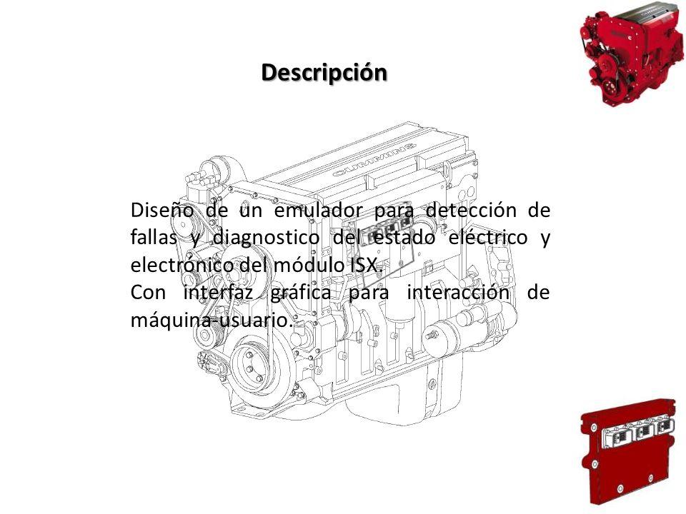 Diseño de un emulador para detección de fallas y diagnostico del estado eléctrico y electrónico del módulo ISX. Con interfaz gráfica para interacción