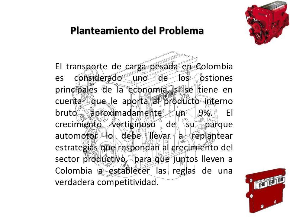 El transporte de carga pesada en Colombia es considerado uno de los ostiones principales de la economía, si se tiene en cuenta que le aporta al produc